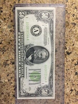 1934 $50 Boston, MA Federal Reserve Note Currency