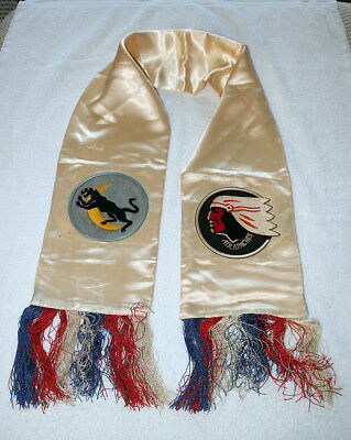 USAAF World War II Army Air Force Air Apaches Pilot Fliers Scarf
