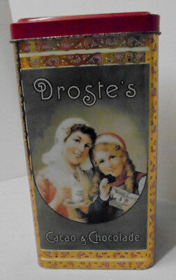 "Droste's Cocoa Haarlem Holland, Dutch Girl, Coins 3.25"" Across 6.5"" Tall Vintage"