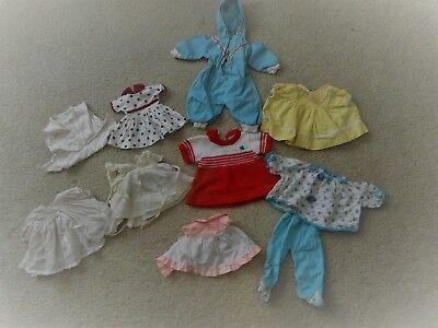 """Vintage doll clothes 10 pc ALL factory! Tiny Tears Betsy Wetsy size 11""""-13"""" OLD!"""