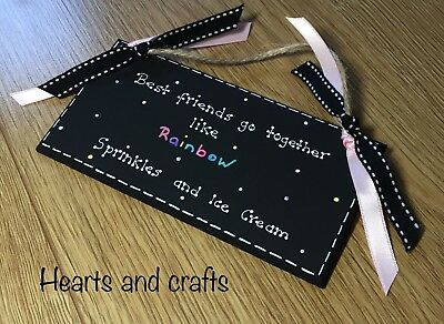 Handmade Wooden Best Friend Plaque Ideal For A Birthday Gift