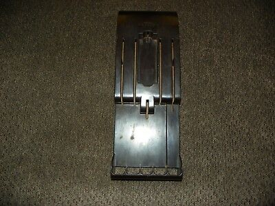 VTG CUTCO BAKELITE Wall Mount Knive Holder Brown Good