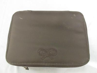 ANYA HINDMARCH Travel Accessory/Cosmetic Case With Accessories Brown Zipped