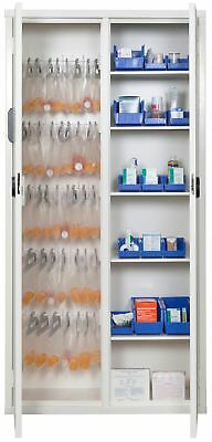 """Medical Storage Cabinet with Electronic Lock, 72"""" H, White  1 EA"""