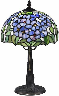Tiffany Style Stained Glass Table Lamp Desk Floral Mission Craftsman Victorian