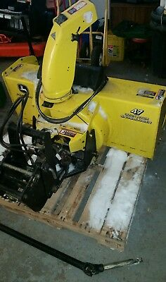 """Nice John Deere 4100 4110 47"""" Two Stage Snowblower Thrower Quick Hitch Attach"""