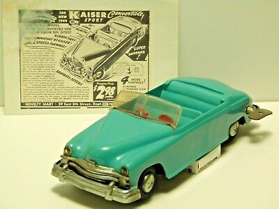 Toy Founders- 1949 Kaiser Plastic 4-Control Convertible. Excellent Condition!!!
