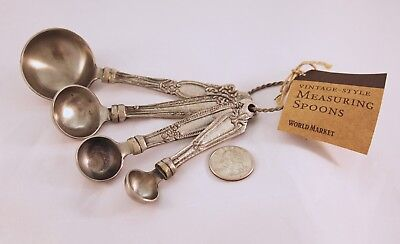 Metal Measuring Spoon Set Old-Fashioned-Style World Market New with Tags