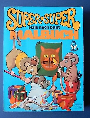 SUPER SUPER MALBUCH - Male mich bunt - 1971 - 70er Vintage bsv Williams Verlag