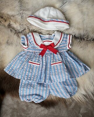 Bitty Baby Sailor Outfit Doll Set American Girl 16 inch Dress Hat Bloomers