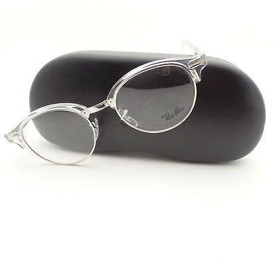 8c89735f61 Ray Ban Clubmaster 4246 2001 White Transparent Silver Frame New Authentic