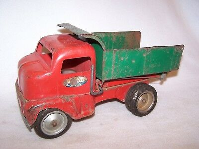 Collectible Vintage Pressed Steel Tonka Cabover No.180 Dump Truck - 1949