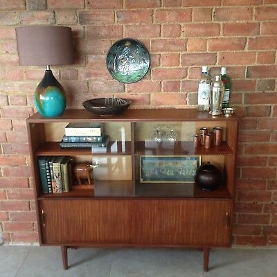 Vintage Mid Century Teak Drinks Cocktail Cabinet Book Shelves Cupboard Retro Coo