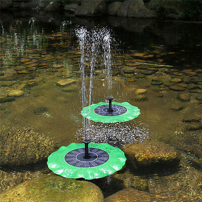 Floating Bird Bath Solar Power Fountain Garden Water Panel Pump Pool Pond Kit