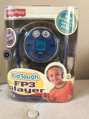 Fisher Price Fp3 Player Kid Tough Blue 128Mb Music & Stories New Nip