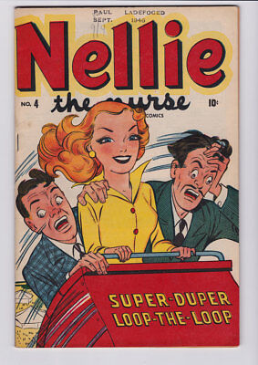 Nellie The Nurse # 4 1946 Georgie  /  Missing 1/2-Page Coupon On Ad Page Jvj