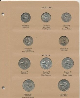 New Zealand Schilling (10-Coins) Exact Coins Shown - Free Shipping