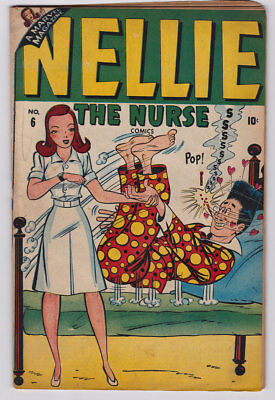 NELLIE THE NURSE # 6 1947 Timely Teen STAN LEE BAND IN STORY Georgie VG- 3.5 JVJ