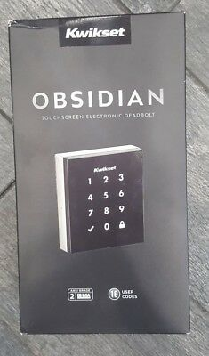 Kwikset Obsidian Keyless Touchscreen Electronic Deadbolt Satin Nickel NEW MODEL