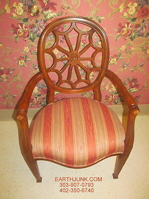 Ethan Allen Spider Back Upholstered Arm Chair 13 7131 British Classics Go With