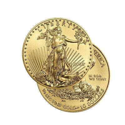 2019 Gold 1/4 oz Gold American Eagle $10 US Mint Gold Eagle Coin