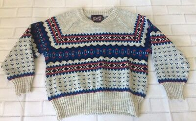 Vintage Youth Perimeters Nordic Sweater Size: 6 Made In Romania