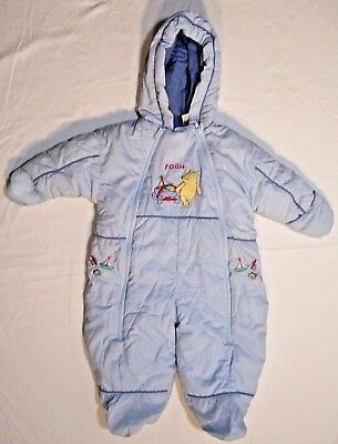 Disney Baby Pooh Wagon Toys Outdoor Fleece Snowsuit one piece Bunting 6-9 Months