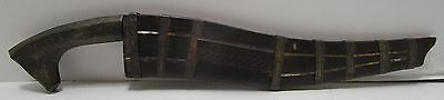 Antique Primitive Hand Made Knife & Wood Sheath