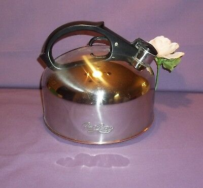 Revere Ware 1801 Copper Clad Stainless Steel 3 1/2 Qt Whistling Teapot f 94-C