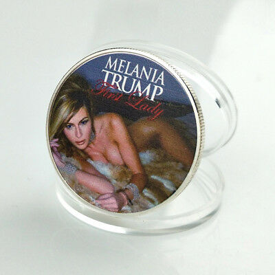 1 Pc Melania Trump Silver American First Lady Commemorative Coin US Half Dollar