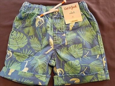 1 pair of new CAT AND JACK SHORTS tropical blue sz 2 2T 24M 24 months (C63)