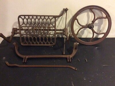 Antique Cast Iron Belt Wheel Foot Pedal Housing from The Free Sewing Machine #5
