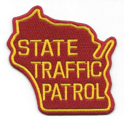 ~WISCONSIN ~ State Shaped Traffic Patrol 75th Year Anniversary POLICE patch