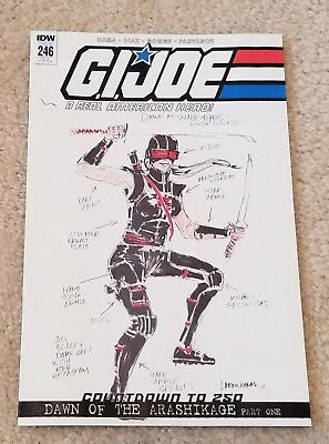 G.I. JOE 246 LARRY HAMA 1:10 FEMALE SNAKE-EYES INCENTIVE VARIANT 1st APPEARANCE