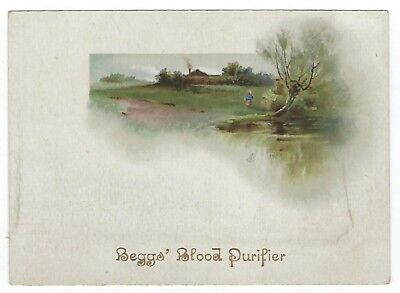 Beggs Blood Purifier late 1800's medicine trade card