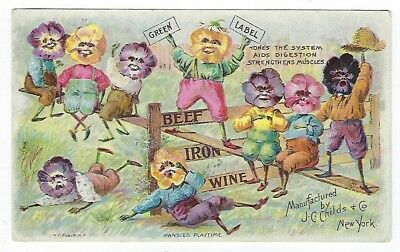 Childs Beef, Iron & Wine late 1800's medicine trade card