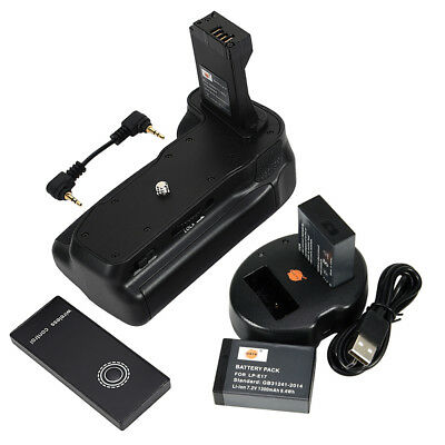 DSTE Remote Battery Grip for CANON EOS 800D with 2 LP-E17 and Dual USB Charger