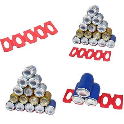 Silicone Tin Can Beer Wine Bottle Rack Organizer Wine Holder Mat Stacking Tidy D