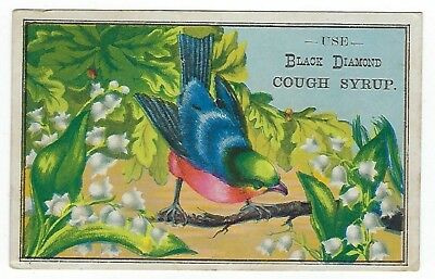 Miller's Black Diamond Cough Syrup late 1800's medicine trade card