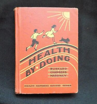 Health By Doing Charming Vintage Reader 1936 Cute Illustrations