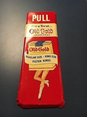 Vintage Old Gold Cigarettes Door Push - Near Mint Condition