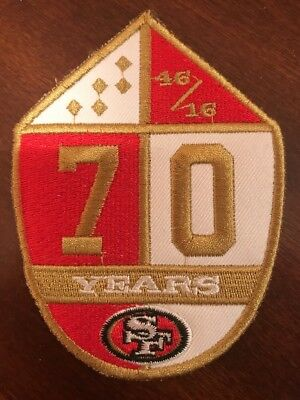 """SF San Francisco 49ers 70 Anniversary Embroidered Sew On Patch 4"""" X 3"""""""