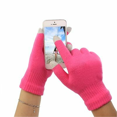 Pink Sport Touch Screen Unisex Winter Gloves, Smartphone Tablet iPhone iPad S