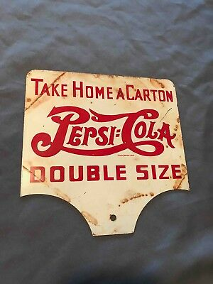 Old Pepsi-Cola Double Size 2 Sided Service Station Carton Sales Rack Soda Sign