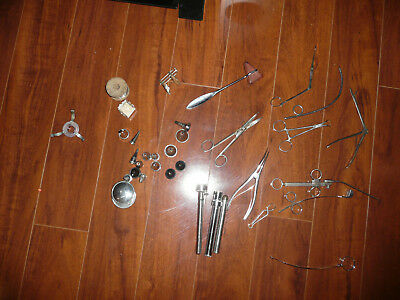 LOT OF ENT ?? Antique Vintage Dental Medical Tools RARE READ POSS 1900'S COLLECT
