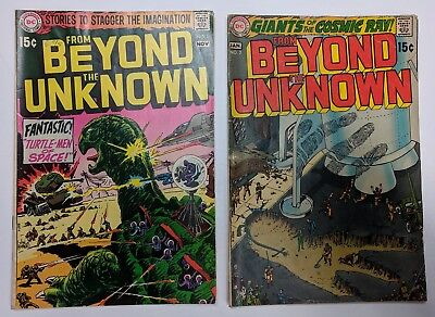 From Beyond The Unknown 1 & 2 - Dc Comics 1969 - Joe Kubert Cover