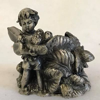 Pewter Pixie Garden Fairy Angel Taper Candle Holder