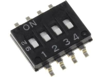 A6H-4101 Switch DIP-SWITCH Poles number4 ON-OFF 0.025A/24VDC 100MΩ OMRON