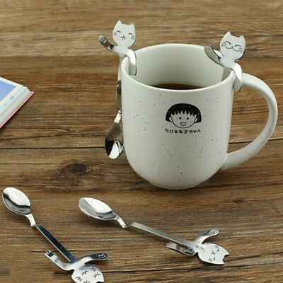 Cat Handle Hanging Coffee Spoon Small Stainless Steel SpoonsHome Decor