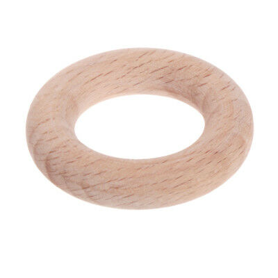 DIY Crafts Baby Teething Natural Wooden Rings Necklace Bracelet 40mm Toy Jewelry